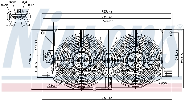 Ventilateur de condenseur (X1)