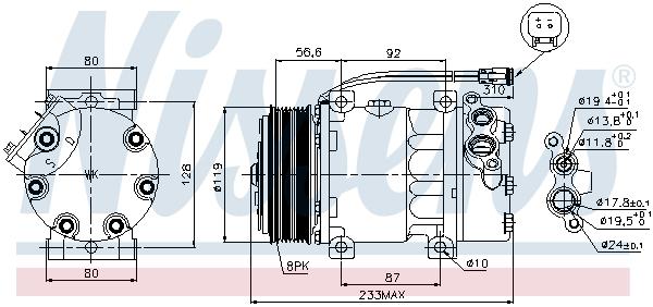 Compresseur NISSENS 89035 (X1)
