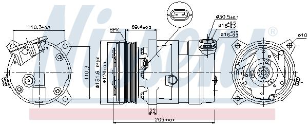 Compresseur NISSENS 89058 (X1)