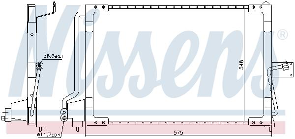 Condenseur / Radiateur de climatisation NISSENS 94117 (X1)
