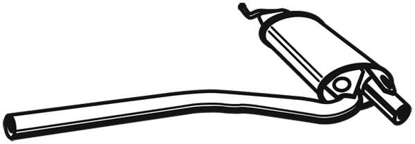 Silencieux central (X1)