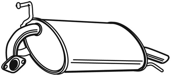 Silencieux arriere (X1)