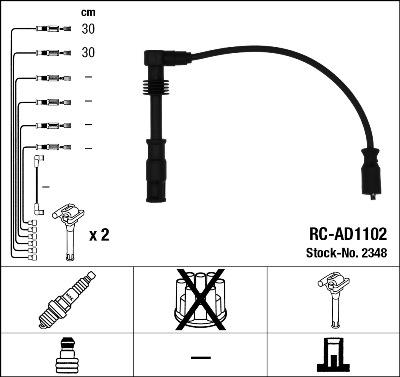 Cable d'allumage (X1)