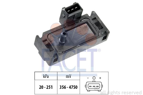 Capteur, pression de suralimentation (X1)
