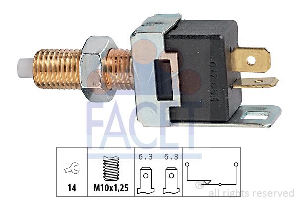 Contacteur de feu stop FACET 7.1017 (X1)