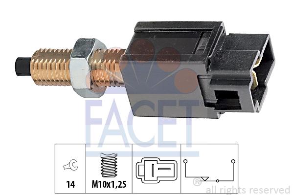 Contacteur de feu stop FACET 7.1169 (X1)