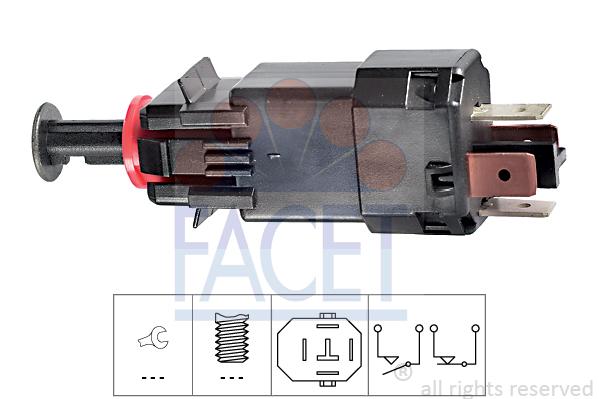 Contacteur de feu stop FACET 7.1205 (X1)