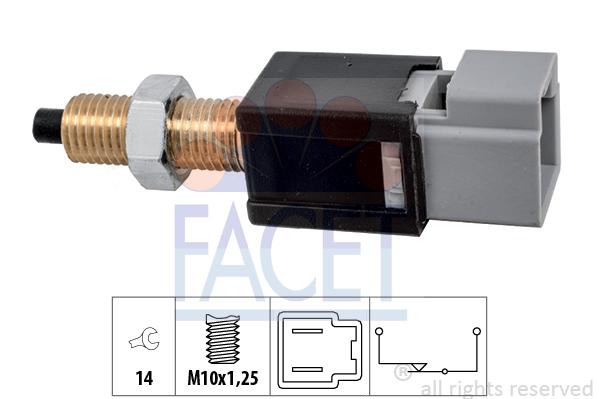 Contacteur de feu stop FACET 7.1304 (X1)