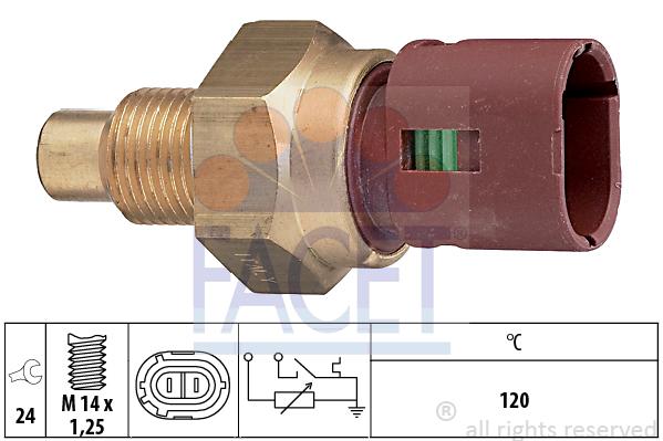 Capteur, temperature du liquide de refroidissement (X1)