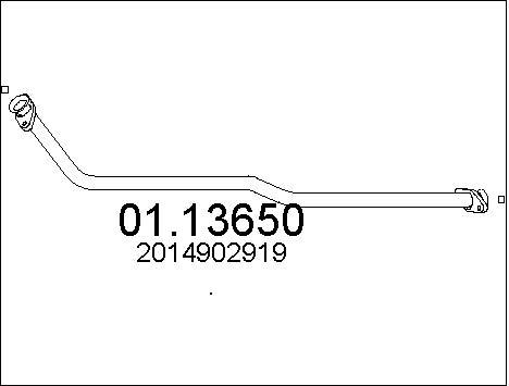 Tube d'echappement (X1)