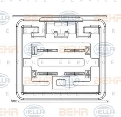 Resistance moteur de ventilateur de chauffage (X1)