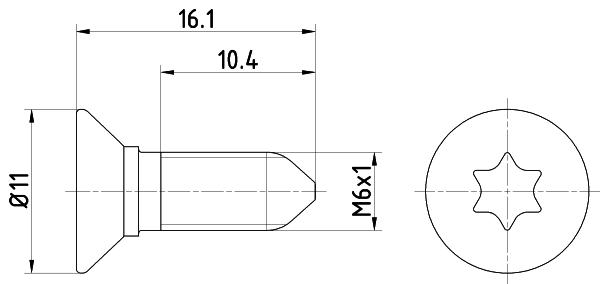 Vis disque de frein avant (Jeu de 2)