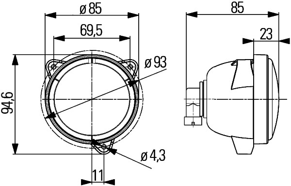 Projecteur de travail optique (X1)