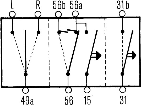 Commutateur de colonne de direction (X1)