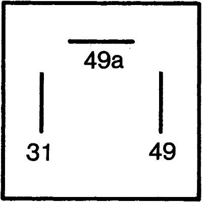 Centrale clignotante HELLA 4DB 003 750-711 (X1)