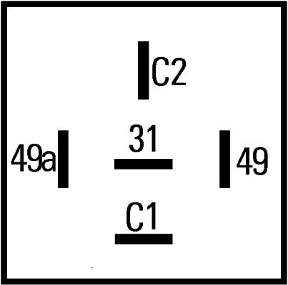 Centrale clignotante (X1)
