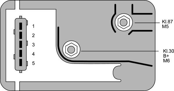 Relais de prechauffage (X1)