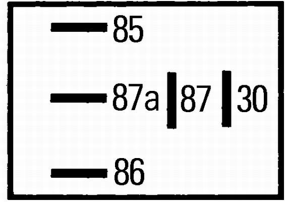 Relais, verrouillage central (X1)