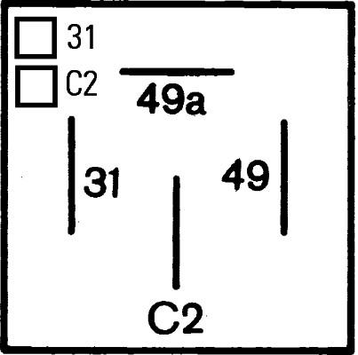Centrale clignotante HELLA 4DM 003 360-021 (X1)
