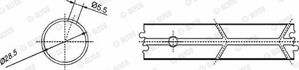 Coussinet de bielle GLYCO 55-3625 SEMI (X1)