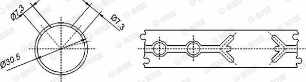 Coussinet de bielle GLYCO 55-3830 SEMI (X1)