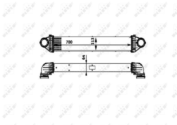 Intercooler radiateur de turbo (X1)