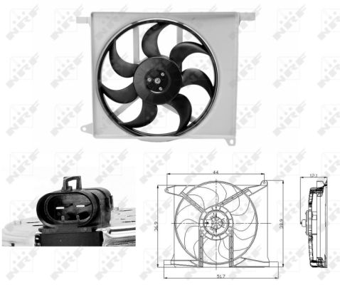 Ventilateur de radiateur (X1)