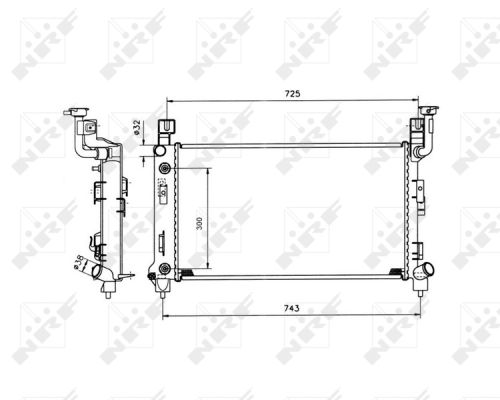 Radiateur de refroidissement (X1)