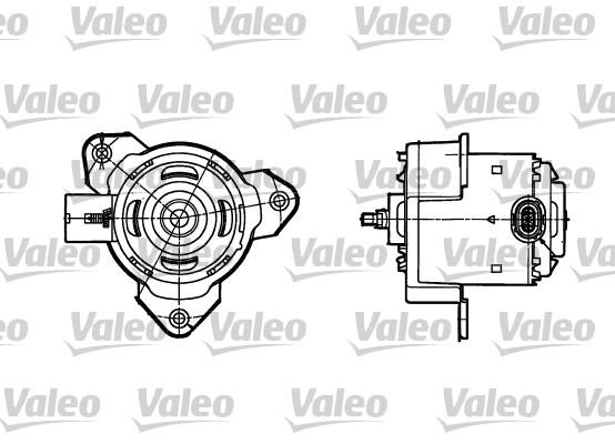 Moteur de ventilateur refroidissement (X1)