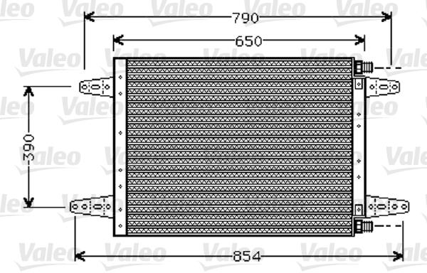 Condenseur / Radiateur de climatisation VALEO 818045 (X1)