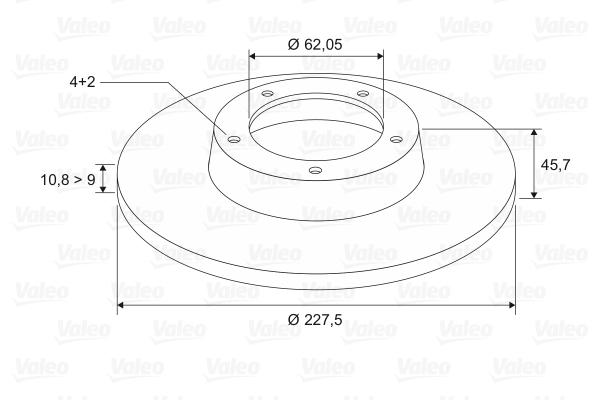 Disque de frein VALEO 186151 (Jeu de 2)