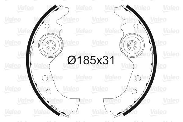 kit de frein arrière simple ou prémonté VALEO 562761 (X1)