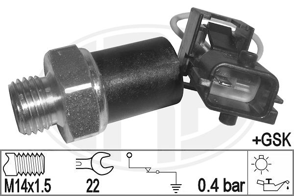 Capteur, pression d'huile (X1)