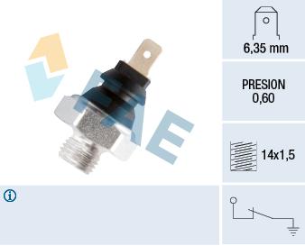 Capteur, pression d'huile FAE 11260 (X1)
