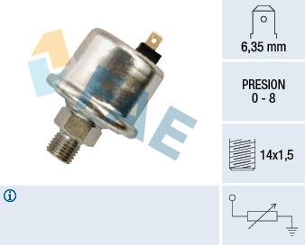 Capteur, pression d'huile FAE 14530 (X1)