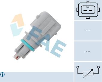 Capteur, température extérieure (X1)