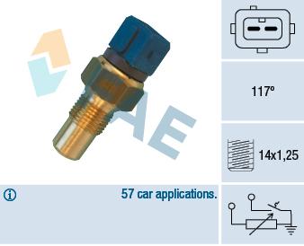 Capteur, température de la culasse (X1)