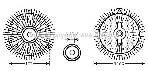 Embrayage de ventilateur refroidissement AVA QUALITY COOLING OLC555 (X1)