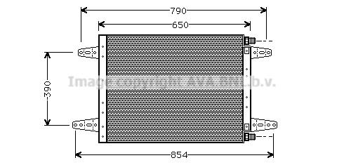 Condenseur / Radiateur de climatisation AVA QUALITY COOLING SC5007 (X1)