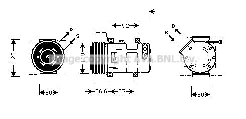 Compresseur AVA QUALITY COOLING SCK016 (X1)