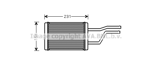 Radiateur de chauffage AVA QUALITY COOLING TO6326 (X1)