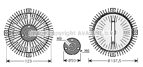 Embrayage de ventilateur refroidissement AVA QUALITY COOLING VNC273 (X1)