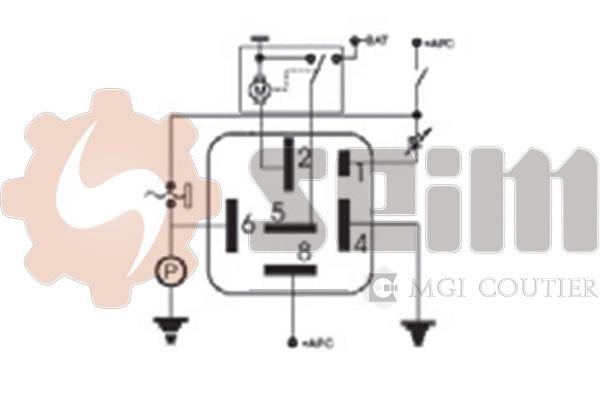 Relais, intervalle d'essuyage (X1)