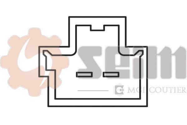 Contacteur de feu stop (X1)