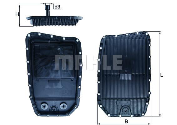 Accessoires de boite de vitesse MAHLE HX 152 (X1)