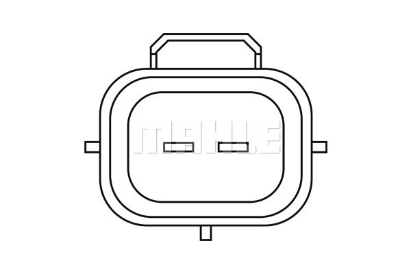 Capteur, température du compartiment moteur (X1)