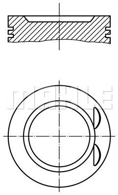 Piston moteur (X1)