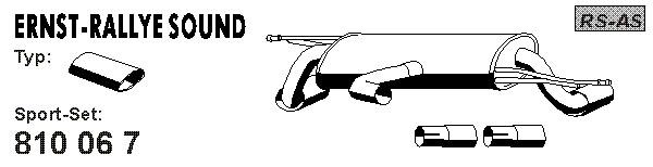 Silencieux sport (X1)