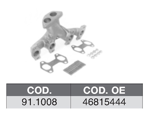 Collecteur d'echappement (X1)