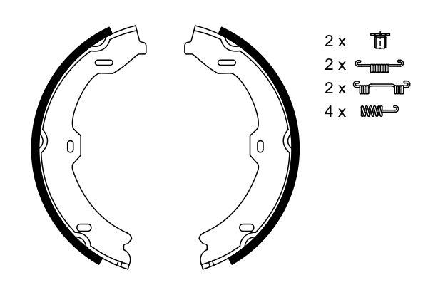 Jeu de mâchoires de frein de frein à main (X1)